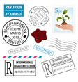 Set Postage Stamps vector image vector image