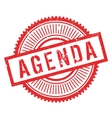Agenda stamp rubber grunge vector image
