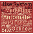 How To Automate Your Online Business text vector image