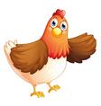 A fat hen vector image vector image