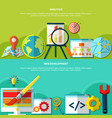 online marketing banners set vector image vector image