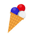 ice cream icon flat style 4th july concept vector image