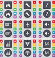 Gamepad Rocket Question mark Cassette Airplane vector image