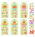 Easter tags set vector image