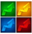 Arrow up signs on color vector image vector image