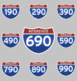 INTERSTATE SIGNS 190-990 vector image