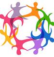 abstract teamwork symbol vector image