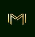 Alphabet letter M logo icon design vector image