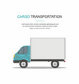 blue cargo delivery van isolated vector image