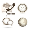 Business website icon set vector image