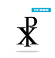 chi rho symbol with drop shadow christogram vector image