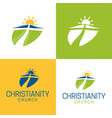 christianity logo and icon vector image