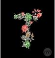 colorful flower font vector image