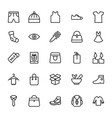 fashion line icons 5 vector image