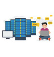 long banner - web hosting administration vector image