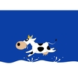 milk cow with container vector image