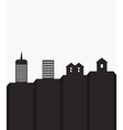 Modern cityscape template vector image