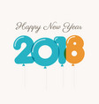 New-year-2018-blue-orange-balloons vector image