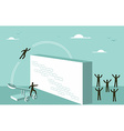 Teamwork motivation Business strategy for success vector image