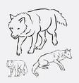 wolf wild animal hand drawing vector image