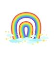Shaped Rainbow Icon vector image