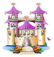 pink fairy tale castle vector image