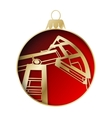 Oil industry christmas design vector image