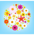 Flowers And Blue Sky vector image