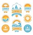 Blue and Orange Summer Holidays Labels vector image