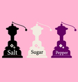 Vintage Salt Sugar and Pepper collection vector image vector image