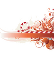 floral candy cane graphic vector image vector image