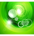 glass techno circles vector image vector image