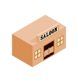 Western saloon isometric 3d icon vector image