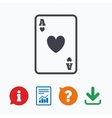 Casino sign icon Playing card symbol vector image
