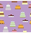 Birthday Cake Flat Icon Seamless Pattern vector image vector image