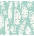 Feathers pattern vector image vector image