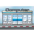 A computer shop vector image