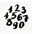 Black brush painted numbers vector image
