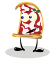 Funny Pizza vector image