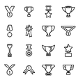 line trophy and awards icon set vector image