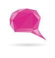 Low poly geometric speech bubble vector image