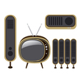 Retro TV and loudspeaker vector image