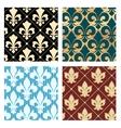 Royal lily patterns vector image