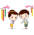 Thai traditional welcome sawasdee vector image