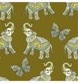 Stylized fantasy patterned elephant vector image