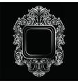 Baroque Rococo Exquisite Mirror frame vector image