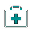 color silhouette image cartoon first aid kit with vector image