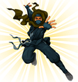 cartoon ninja vector image vector image