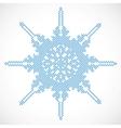 Halftone snowflake vector image