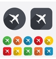 Airplane sign Plane symbol Travel icon vector image